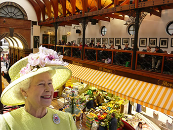 Queen Elizabeth Visits The English Market in Cork