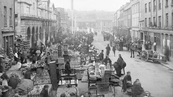 Street Market Scene Cork