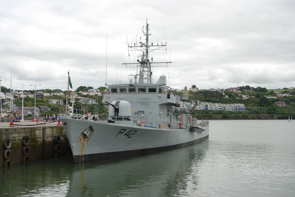 navy ship at kinsale co cork