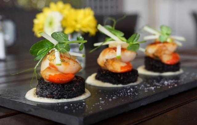 Blue Haven Hotel Kinsale scallops and black pudding