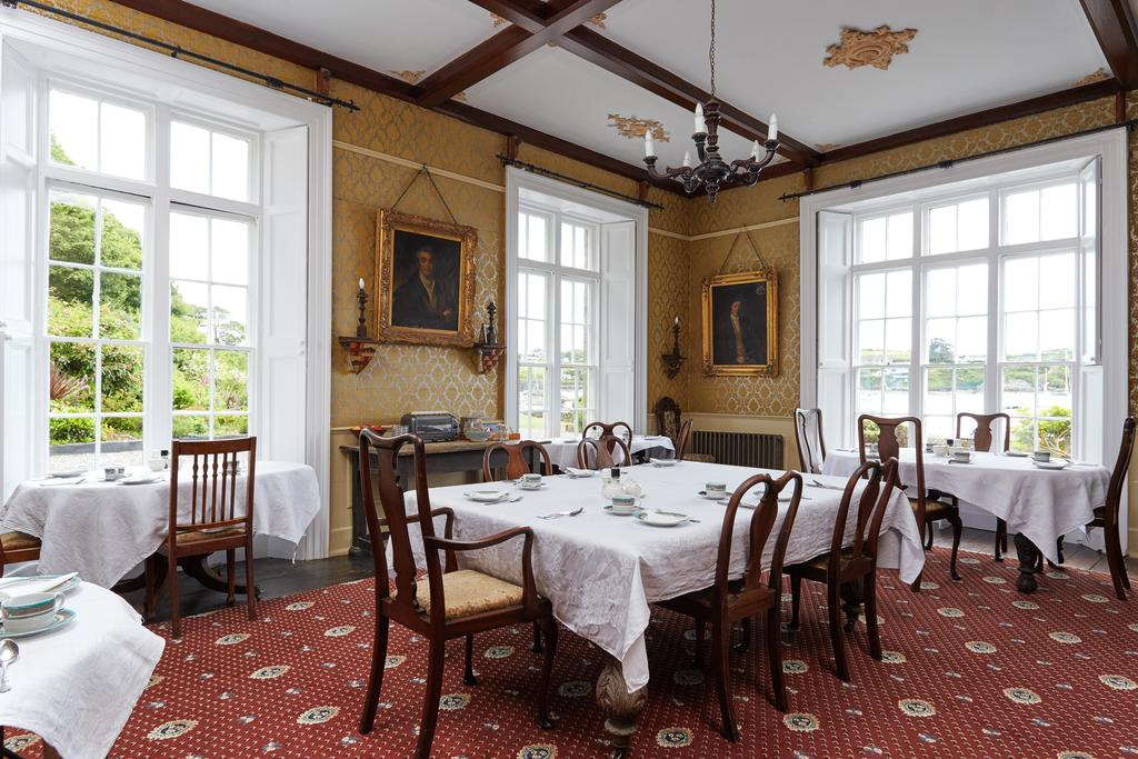 The Castle Castletownshend dining room