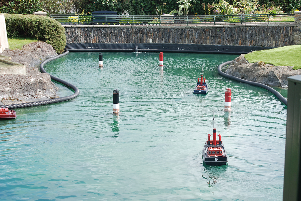 Model Railway Village - remote control boats